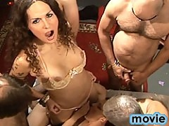 Sexy transsexual Nikki in a hot UK group sex