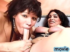 2 super hot tgirls Maria & Perla blowing and fucking